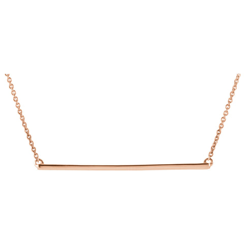 14K Gold Straight Bar Necklace - Cailin's