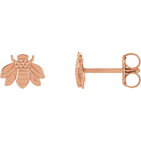 14K Gold Bumble Bee Earrings - Cailin's