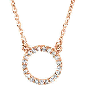 14K Gold Diamond Perfect Circle Necklace - Cailin's