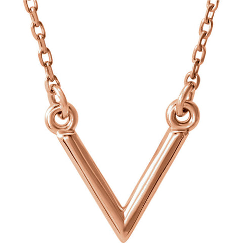 Classic Letter V Necklace - Cailin's