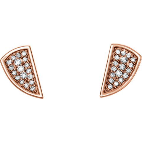 Geometric Piece diamond Post Earrings - Cailin's