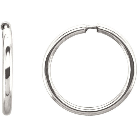 Sterling Silver Infinite Tube Hoop Earrings - Cailins | Fine Jewelry + Gifts