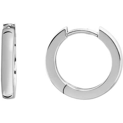 Sterling Silver Hinge Hoop Earrings - Cailin's
