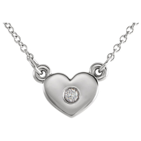 Heart Accent diamond Necklace - Cailin's