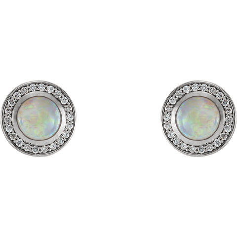Opal 1/5th CT diamond Halo Earrings - Cailin's
