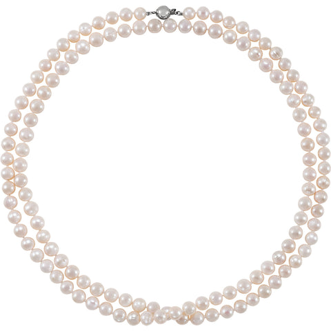 Sterling Silver Freshwater Pearl Necklace - Cailin's