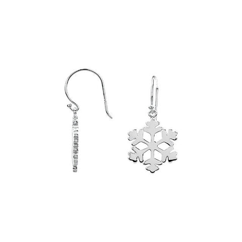 Simple Snowflake French Wire Earrings - Cailin's