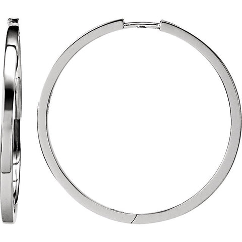 Sterling Silver Square Hoop Earrings - Cailin's