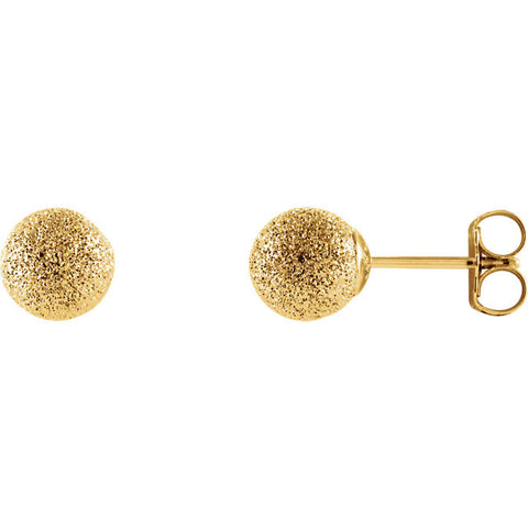 14k Yellow Gold Stardust Ball Earrings - Cailin's