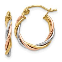 14K Gold Thrice Perfect Twist Earrings - Cailin's