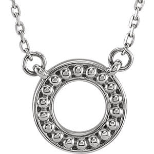 Stylish Circle Fashion Metal Bead Necklace - Cailin's