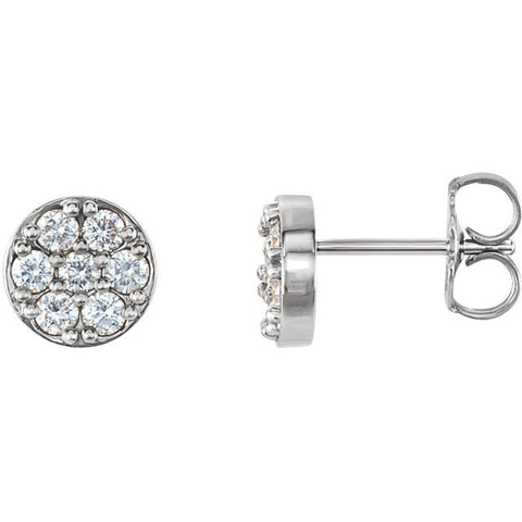 14K Gold Diamond Cluster Post Earrings - Cailin's