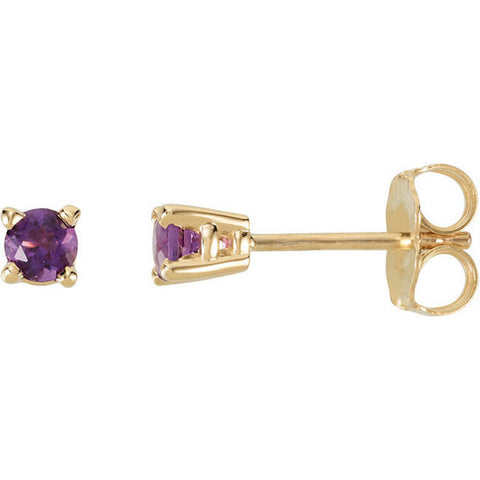 14K Gold Classic Gemstone Post Earrings - Cailin's