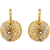 14K Gold Elegant Nest Diamond Earrings - Cailin's