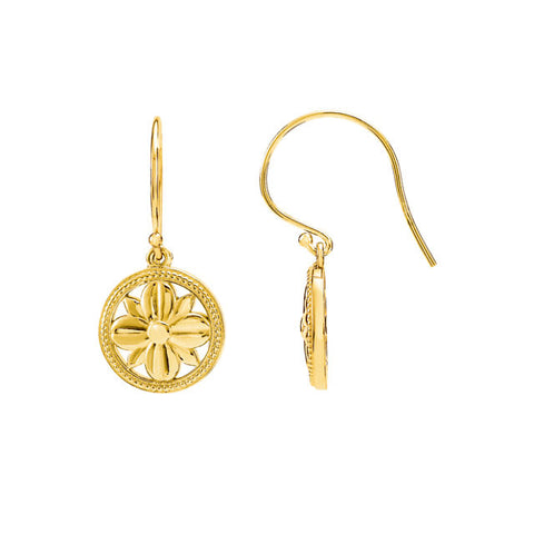 14K Gold Filigree Floral Earrings - Cailin's