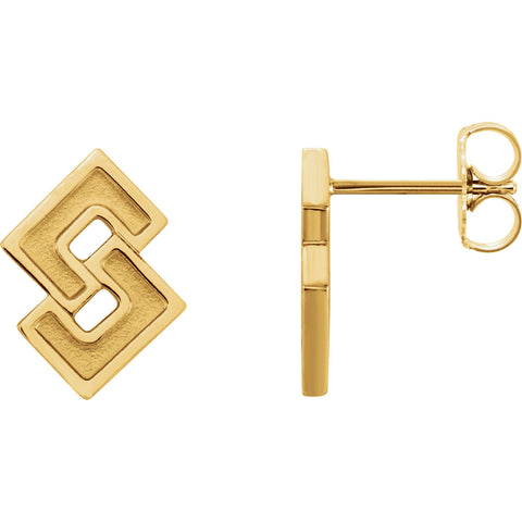Geometric Link Post Earrings - Cailin's
