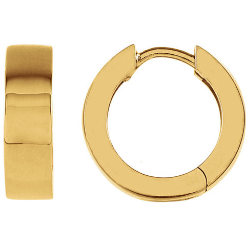 14K Yellow Gold Hinge Hoop Earrings - Cailin's