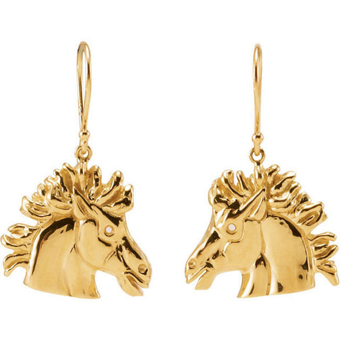 Lipizzan Stallion Horse Earrings - Cailin's