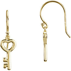 Classic Key Post Earrings - Cailin's