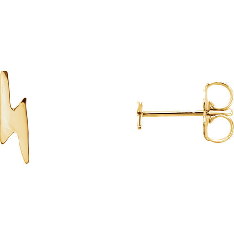 Lightning Bolt Post Earrings - Cailins | Fine Jewelry + Gifts