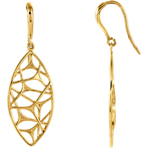 14K Gold Web Nest Earrings - Cailin's