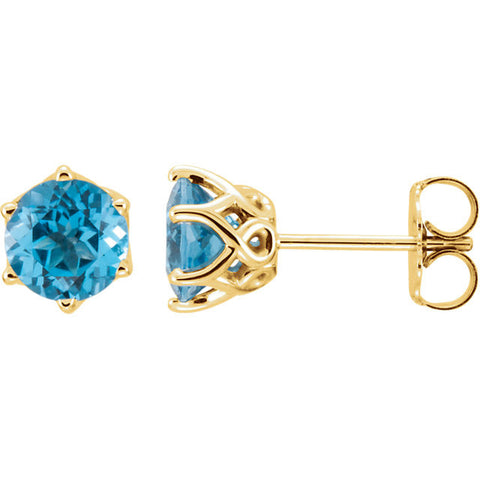 14K Gold Topaz Post Earrings - Cailin's