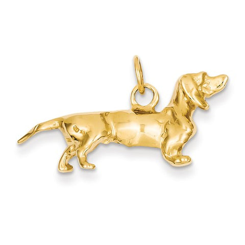 14K Yellow Gold dachshund dog Necklace Charms - Cailin's