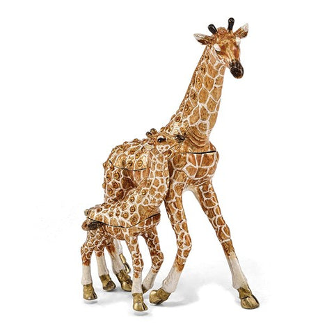 Gorgeous Giraffe Mother with Baby Jewelry Box - Cailin's