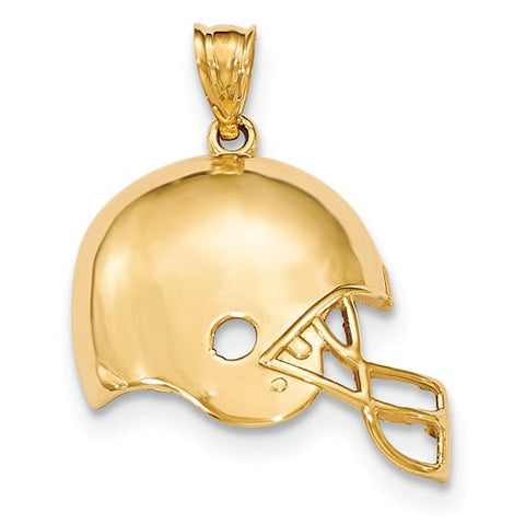14K Yellow Gold Football Helmet Necklace Charm - Cailin's