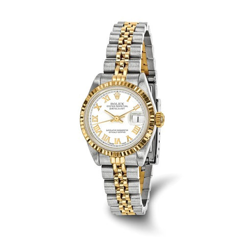 Rolex White Roman Numeral dial Luxury Lady datejust Watch - Cailin's
