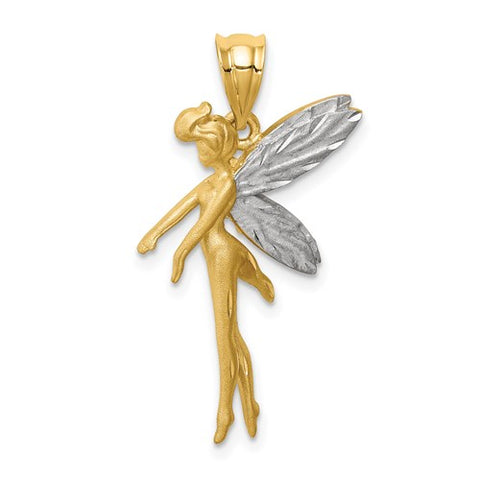 14K Yellow Gold Magic Fairy Necklace Charm - Cailin's