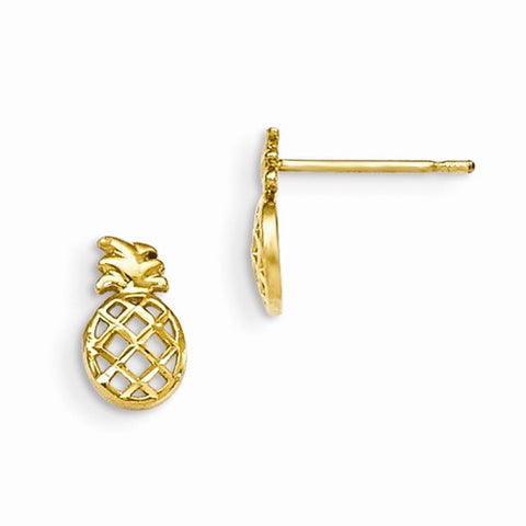 14K Yellow Gold Petite Perfect Pineapple Post Earrings - Cailin's