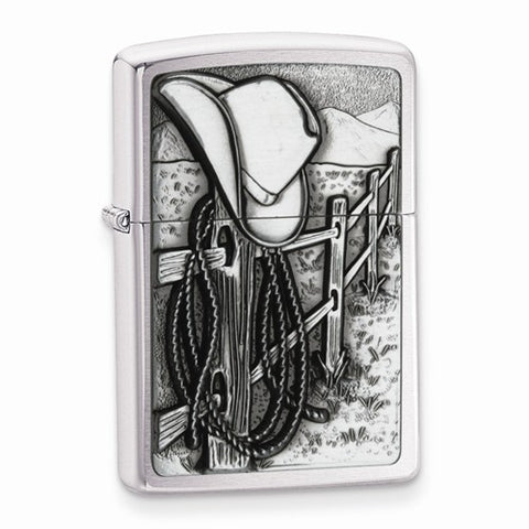 Zippo Chrome Cowboy Lighter - Cailin's