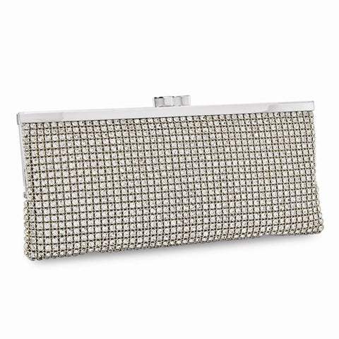 Stunning Swarovski® Crystal Leather Evening Bag - Cailin's