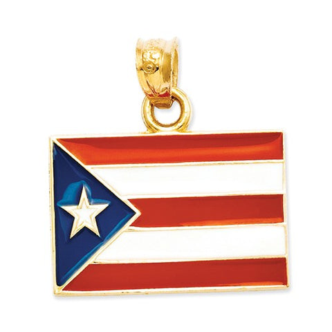 14K Yellow Gold Country Flag Travel Necklace Charms - Cailin's