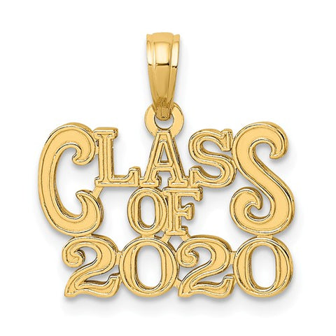 14K Yellow Gold Class of 2020 Graduation Necklace Charm - Cailin's