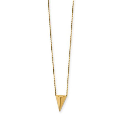 14K Yellow Gold Tantalizing Triangle Necklace - Cailin's