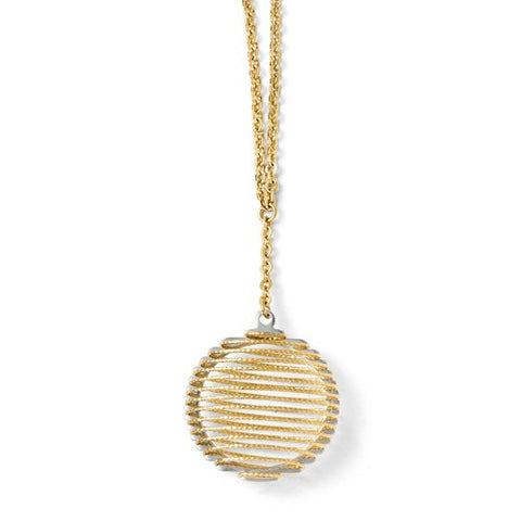 14K Two Tone Gold Wave Wrap Necklace - Cailin's