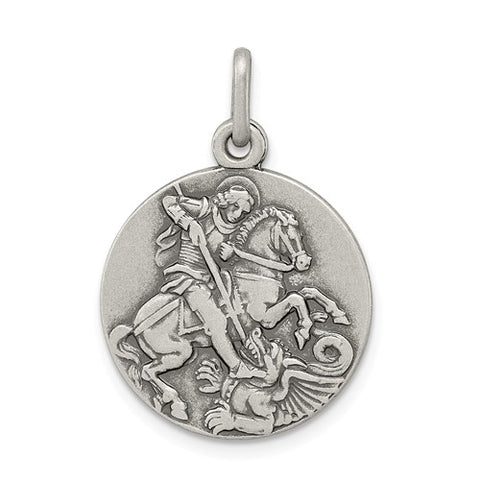 925 Sterling Silver Saint George Patron Coin Charm