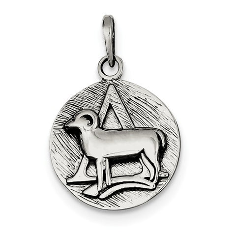 925 Sterling Silver Antique Zodiac Horoscope Necklace Charms - Cailin's