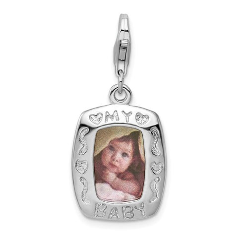 925 Sterling Silver Baby Picture Necklace Charm - Cailin's