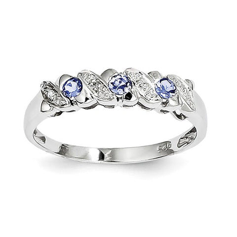 925 Sterling Silver Tanzanite diamond Ring - Cailin's
