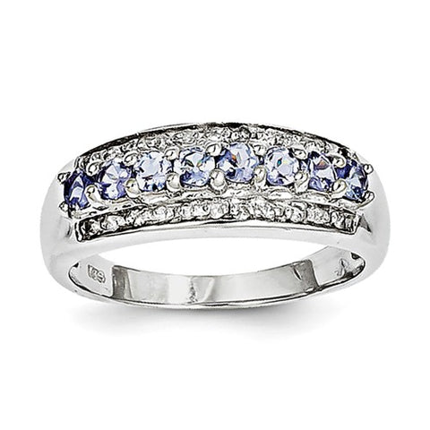925 Sterling Silver Tantalizing Tanzanite diamond Ring - Cailin's