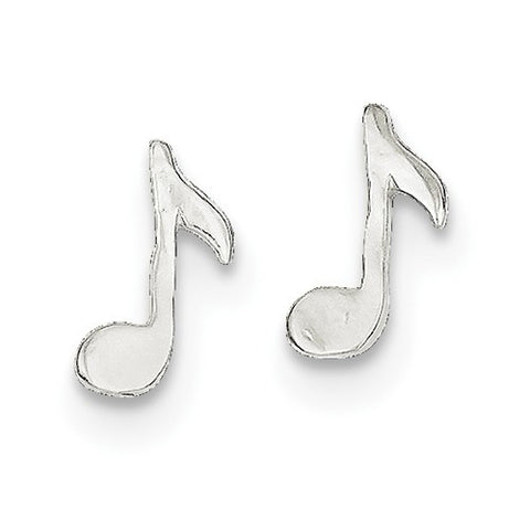 925 Sterling Silver Mini Music Note Post Earrings - Cailin's