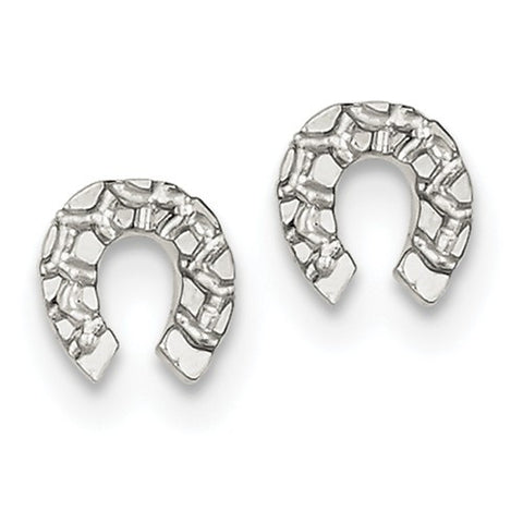 Sterling Silver Lucky Horseshoe Earrings - Cailin's