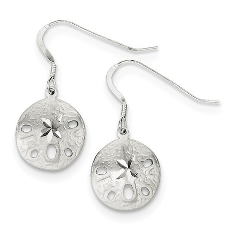 925 Sterling Silver Sand dollar French Wire Earrings - Cailin's