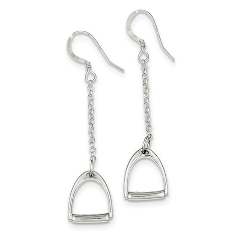 Sterling Silver Horse Stirrup Earrings - Cailin's