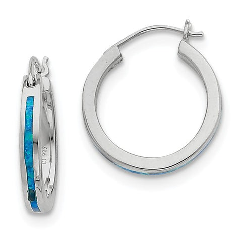 Sterling Silver Opal Hoop Earrings - Cailin's