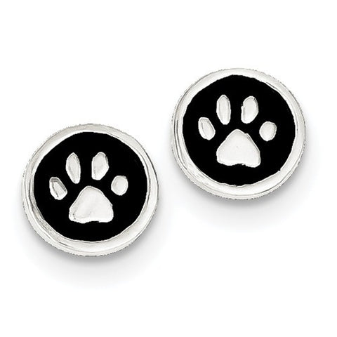Sterling Silver Pet Paws Post Earrings - Cailin's
