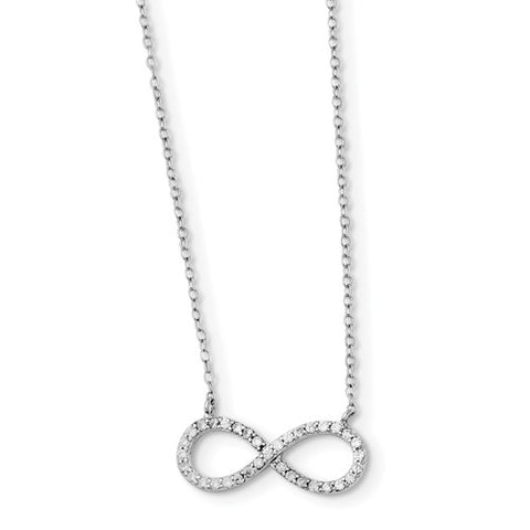 925 Sterling Silver CZ Infinity Necklace - Cailin's